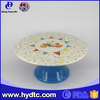 Factory Price Hot selling ceramic high cake plate by lovely rabbit