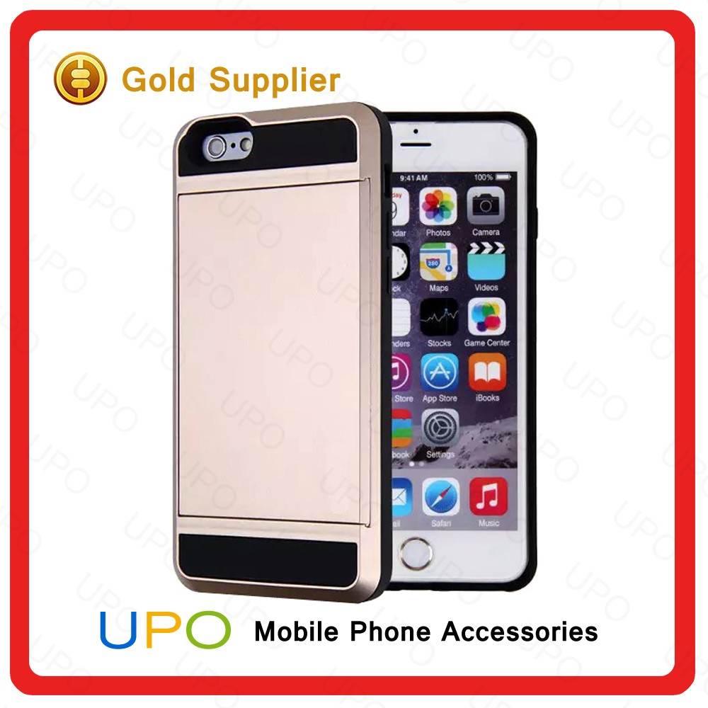 [UPO] High Quality Armor Protective Phone Case for iPhone 6,For iPhone 6 Case Armor Hybrid with card slot holder