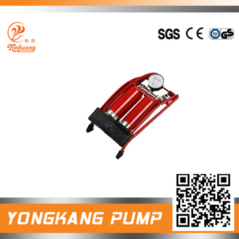 foot operated air pump mechanism Bicycle Tire Ball