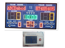 wholesale alibaba wireless remote control basketball large outdoor LED scoreboard with shot clock