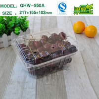Chinese packaging adjustable plastic fruit storage big box plastic container