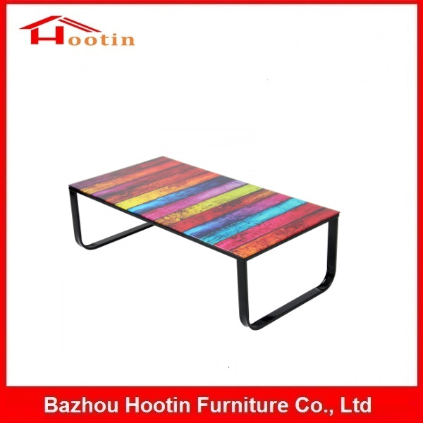 2016 New Designed Modern European Style Popular Living Room Furniture Black Painting Top Tea Table