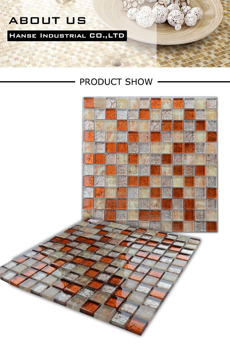 HT225 Foshan wholesale factory price of decorative clear glass mosaic mirror frame