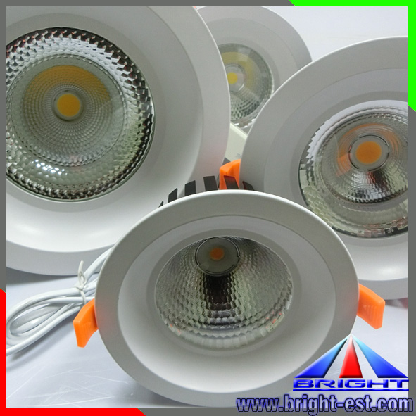 Round ceiling led down light fixture,Ce ,Rohs Certified dimmable 3 years warranty cob led downlight,20w COB downlight