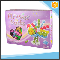 ABS Plastic Beautiful Flower Building Block For Kids in 80PCS