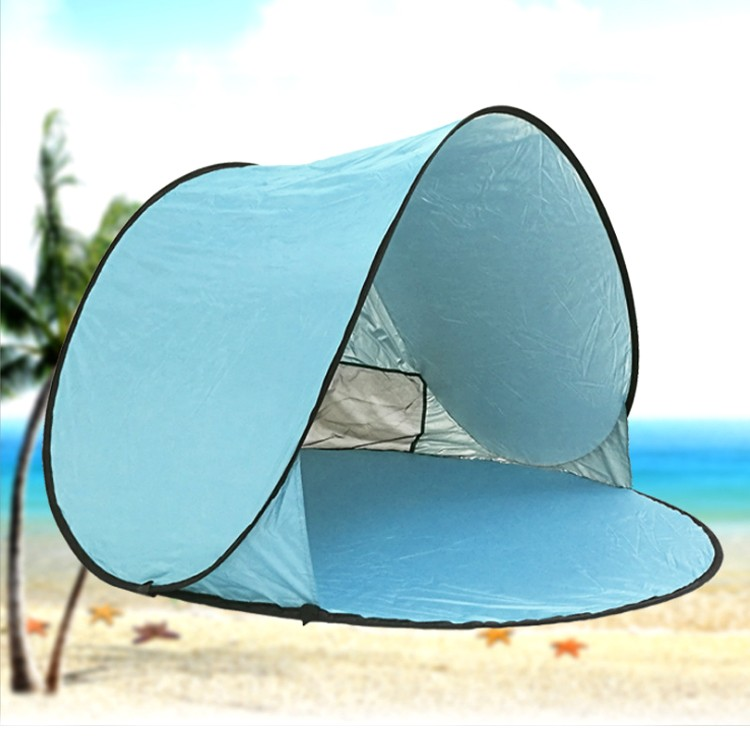 Custom logo outdoor folding pop up family beach camping tent