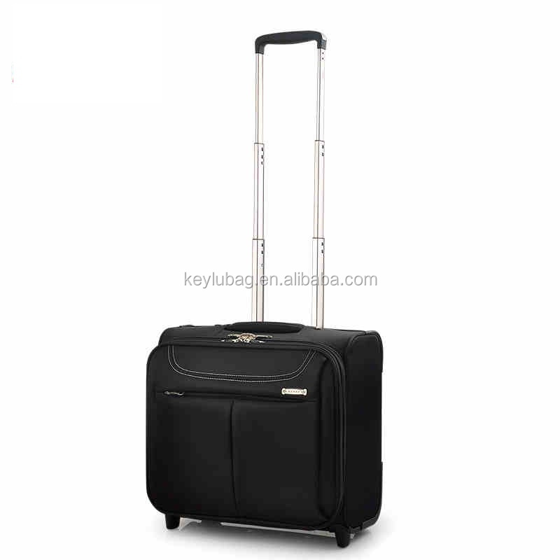 Factory hot high quality farbic suitcase trolley luggage used soft box luggage