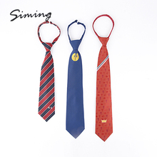 Promotional lady microfiber wholesale custom zipper tie with antiriot clip
