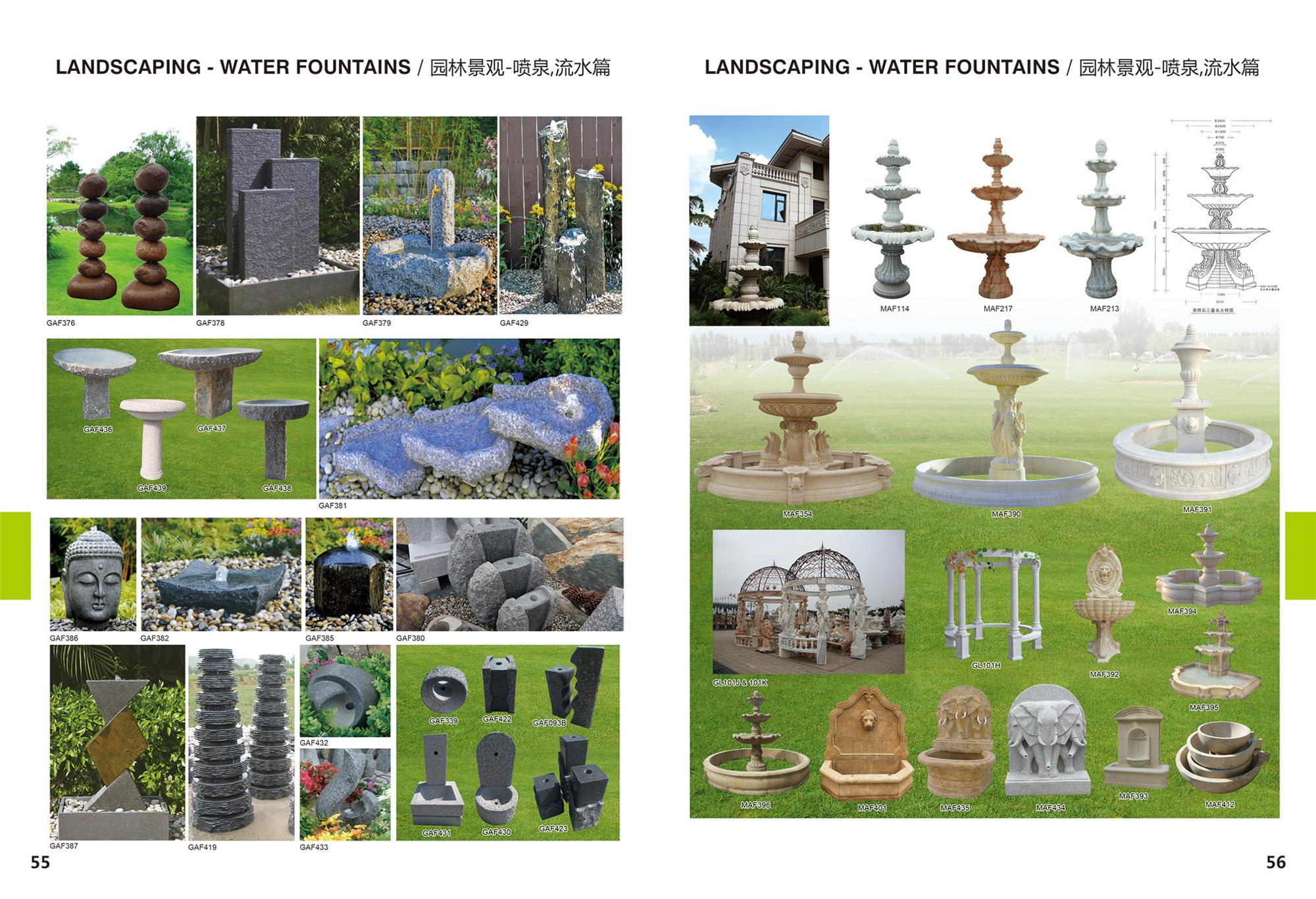 Garden Landscape Stone Water Large Fountain