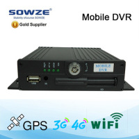 Sowze Best selling 4 channel mobile car DVR recorder wih good quality and price