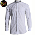 BSCI/SA8000 executive solid men fashion shirt stand collar color men shirt