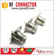 zhenjiang rf connector N type female 4hole flange connector long teflon