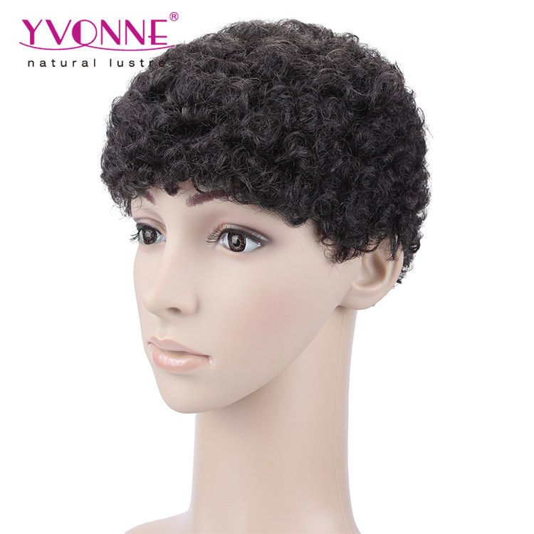 Hot sales short hair wig men full lace wigs