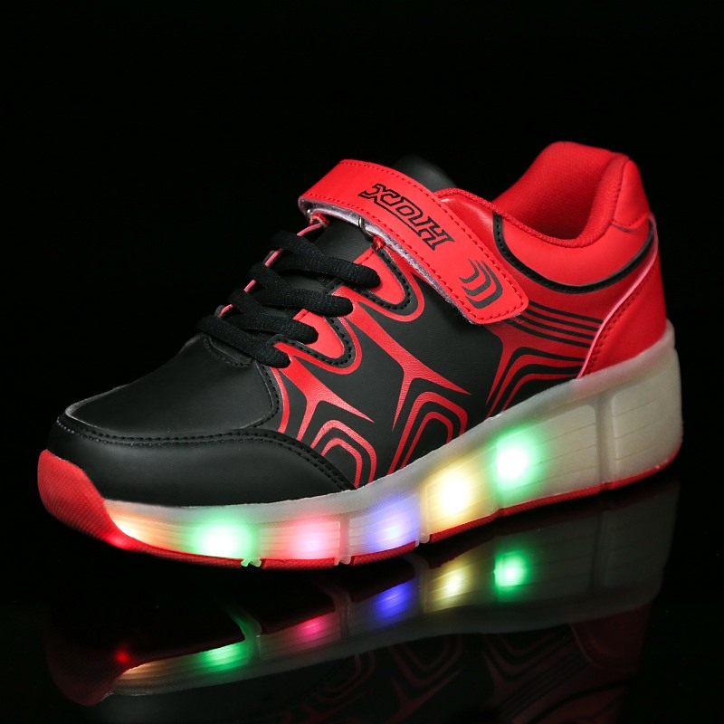 Led Shoes Kid Sport Shoes One Roller Skate Retractable Manufacturers