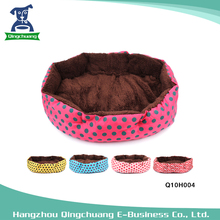 Hot Sale Cute Dot Round Octagonal Pet Dog Bed
