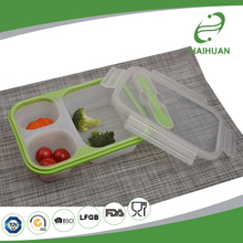 Best Selling 100% Food Grade Silicone, Nylon, PP Silicone Collapsible Container / Lunch Box Silicone Lunch Boxes