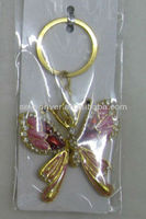 Butterfly pendant key chains keychain diamond key ring