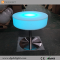 CE&RoHS Approved Popular Good Quality LED Modern Nightclub Table Illuminated Plastic Led Bar Table with Metal Stand