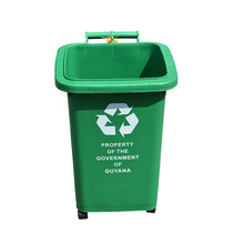 Wholesale Customized commercial clear plastic design trash can price