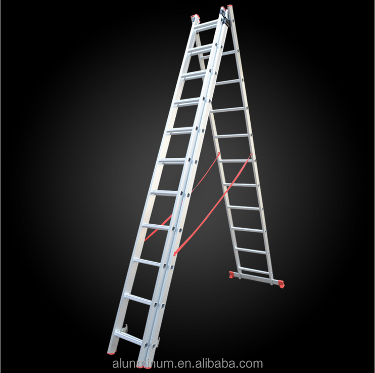 Multipurpose combinated folding three section extension fire escape rope ladder