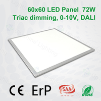 ce rohs saa Triac Dali dimmable IP54 led light panel for kitchen recessed led 60X60cm DLC 2X4 led panel