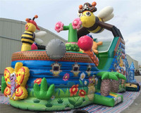 Inexpensive Cartoon Themed Playground Ball Pit Inflatable Pirate Ship