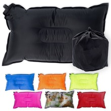 Woqi Cheap Travel Beach Pillow Camping Travel PVC Inflatable Pillow for Neck Rest