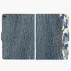 Denim & leather flip cover case for ipad air 3 /Customized design tablet/ stand function