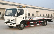 China best quality small recovery truck 4x2 flatbed road wrecker for Ecuador