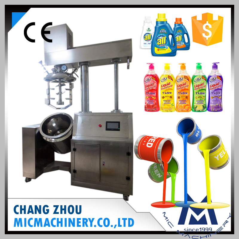 MIC high pressure liquid soap chemical vacuum mixing machine homogenizer mixer price for industry paint and cosmetic shampoo