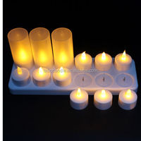 Buy High lumen E14/E17/B26/B27 rechargeable led tea light candles ...