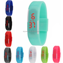 Cheap price sport watches, fast shipping stock silicone rubber led watch for promotional usage(SWTFF566)