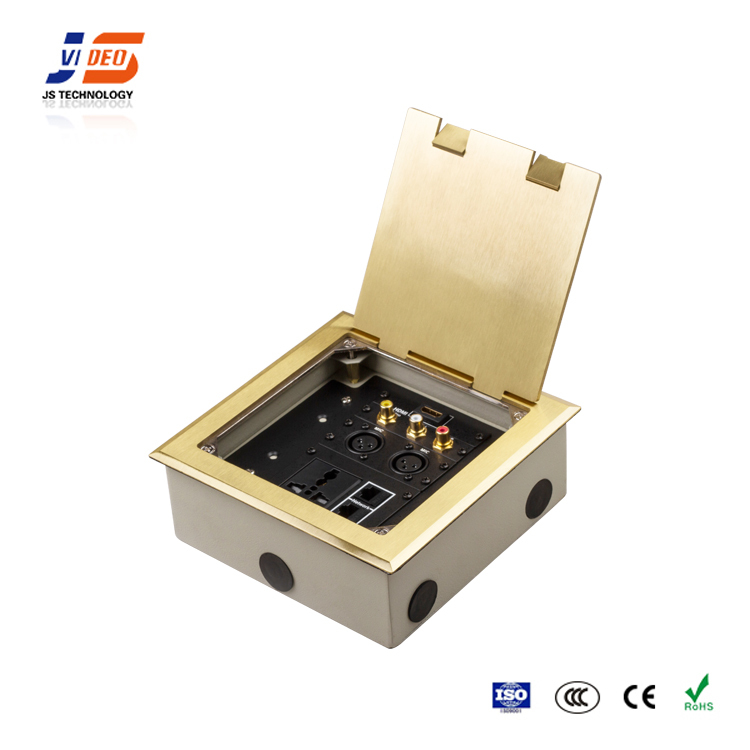 JS-DC180 Power and Data Recessed Floor Socket Box