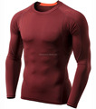 Hot sale Men's Long Sleeve T-Shirt Baselayer Cool Dry Compression Top Crew neck T shirt Blank t-shirt