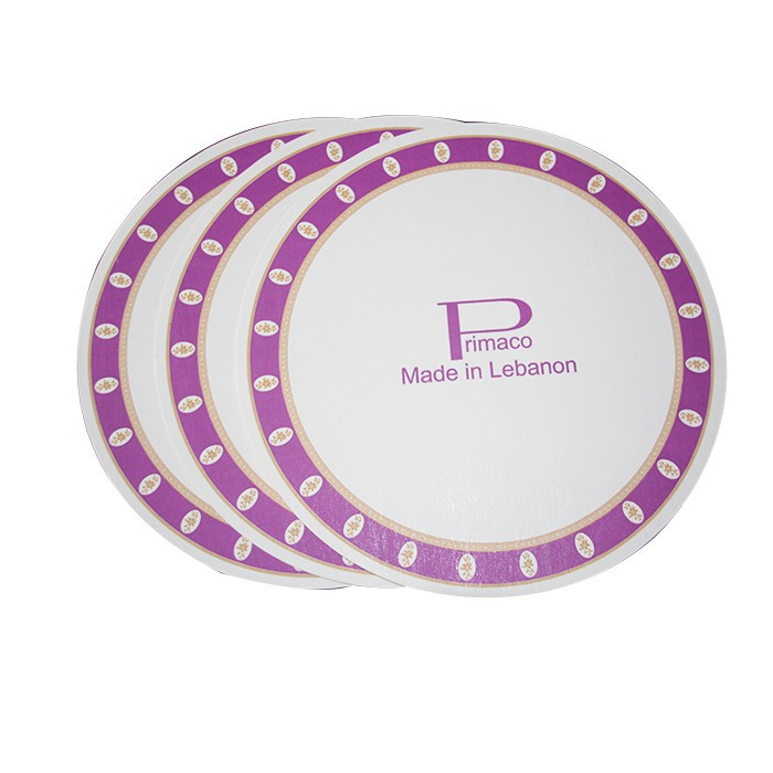 Custom Made Competitive Price Neon Paper Plates Fan