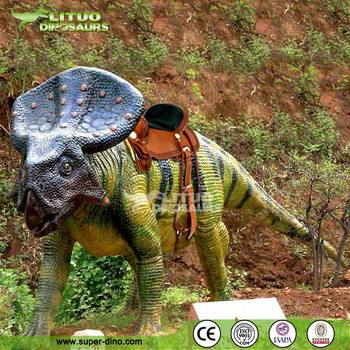 Outdoor Walking Rides Animatronic Dinosaur