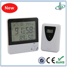 Alibaba Top Manufacturer Multi-function Calendar Clock Hygrometer Indoor Outdoor Digital Wireless Thermometer