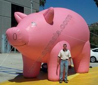 Large inflatable led light pig balloon, outdoor advertising pig air balloon S2006