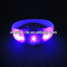 LED sound sensor motion sensor Flashing silicon party concert bracelets wristbands