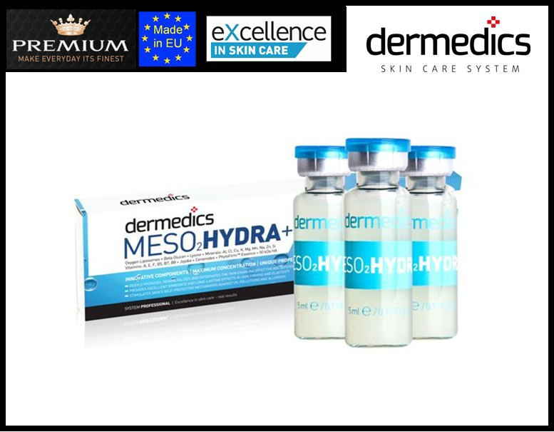 dermedics MESO HYDRA needle-free mesotherapy ampoules with oxygen liposomes and ions - NEW!!!