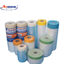 Plastic film/pre-taped masking taped protective plastic film