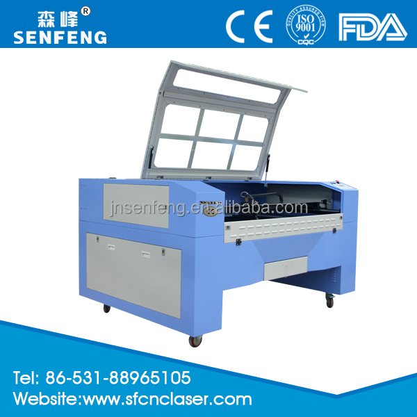 Poly Urethane laser cutting machine with 80w laser tube SF1390E