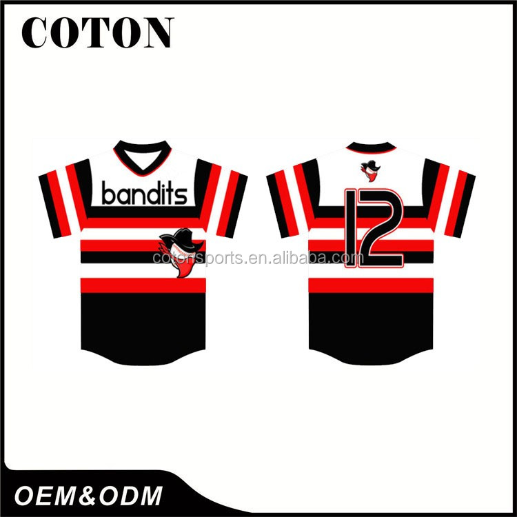 kids full dye sublimation American baseball jerseys for Factory direct sale