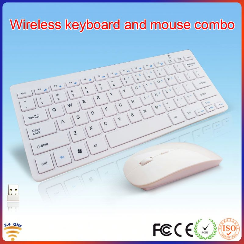 2014 latest white 2.4g laptop usb wireless keyboard case