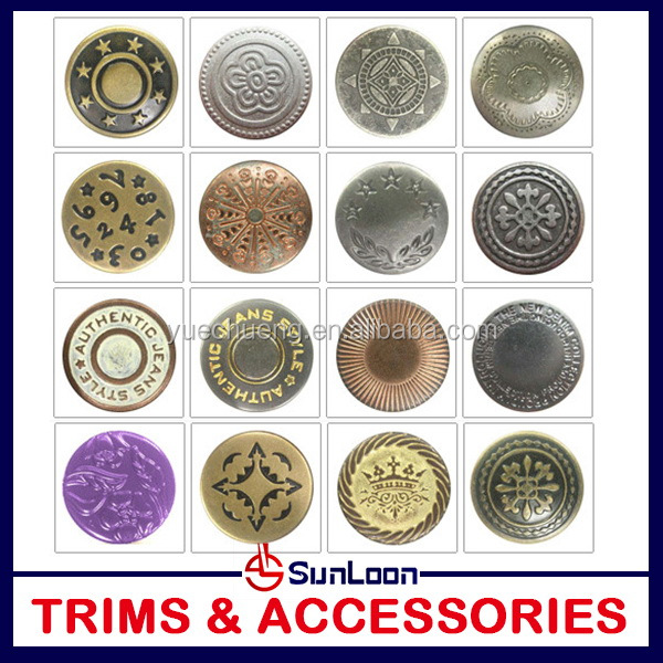 Top grade high quality enamel color jeans button cover