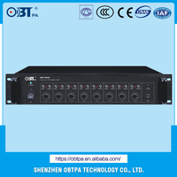 OBT-8028 2U 19 Inch 8 Signal Audio Preamplifier with Emergency Input for PA System