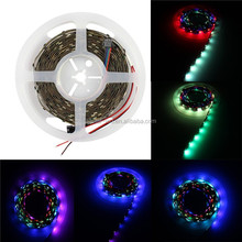 16.4ft/5m Bult-in Addressable Color LED Pixel Strip 160ics 160leds Ws2801 Dc5v RGB 5050 Non-waterproof Individually Digital