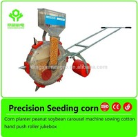 Walking behind Hand push light corn 1 row manual seeder planter