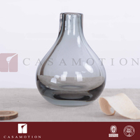 Casamotion Smoke Coloured Center Table Decorations Glass Mini Bud Vase