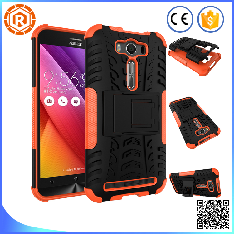 Hybrid patent dazzle rugged case for zenfone2 laser with foldable kickstand protect camera to prevent scratching